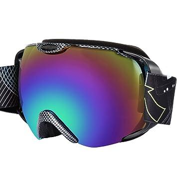 Gafas de esquí, snowboard Gafas con funda 100% protección UV Gafas Durable Anti-Fog con PC de doble objetivo windgekühlt – Impact amplio para mujeres ...