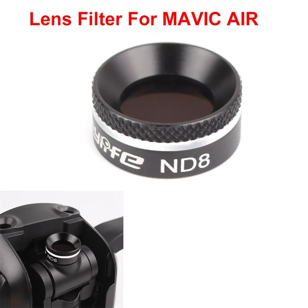 Joint Victory 1 pc Camera Lens HD Clear Filter Sets ND8 Neutral Density Filters Parts Dimmer Kit for DJI Mavic Air (ND8)