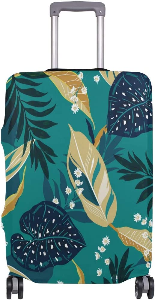 Baggage Covers Green Tropical Jungle Palm Leaves Washable Protective Case
