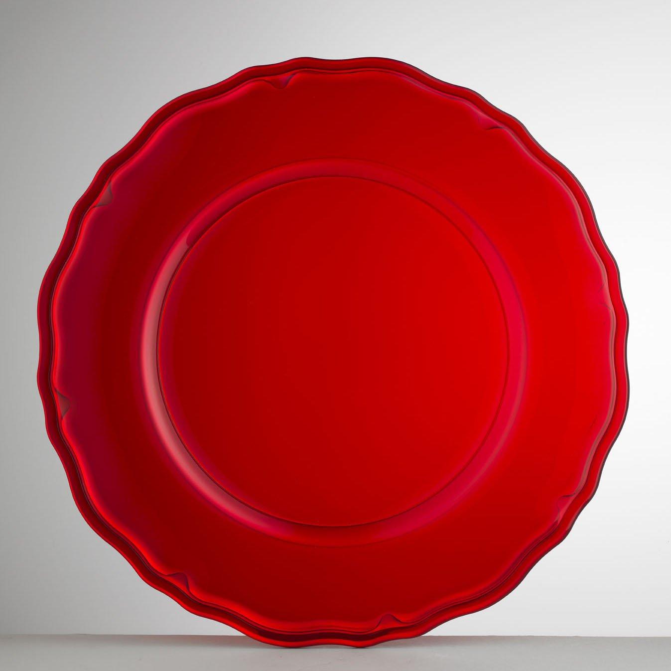 Mario Luca Giusti Set 6 Giotto Plate Red