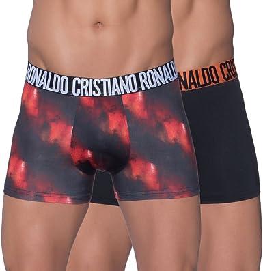 Hombres Pack de 2 Calzoncillos de Microfibra Fashion S M L XL CR7 Cristiano Ronaldo