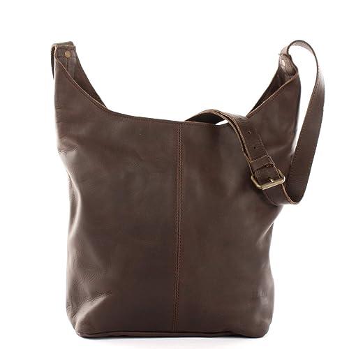 70f4cb304edc1f LECONI große Umhängetasche Damen Schultertasche praktische Ledertasche für  Frauen Beuteltasche Vintage-Style Damentasche Shopper aus