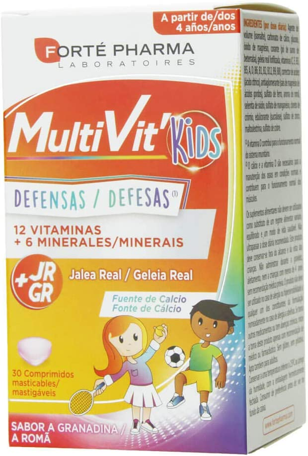 Forte Pharma Energy Multivit Junior 30 Comprimidos: Amazon.es: Belleza