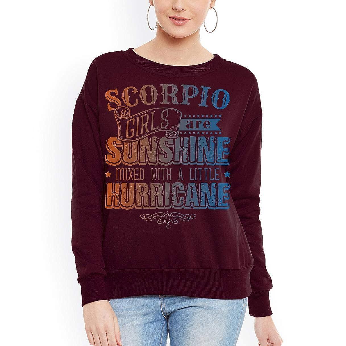tee Scorpio Girls are Sunshine Mixed with Hurricane Women Sweatshirt
