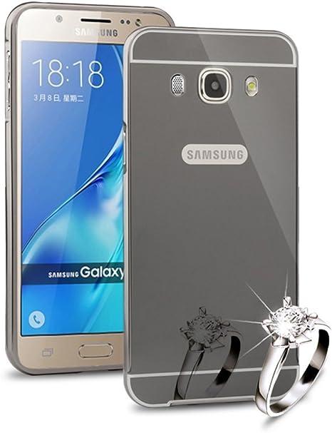 Sunroyal®Reflexión Brillante Lujo Espejo Carcasa para Samsung ...