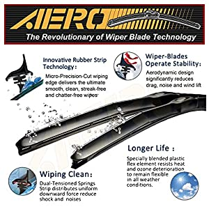 "AERO Hybrid 24"" + 18"" Premium Quality All-Season Windshield Wiper Blades (Set of 2)"