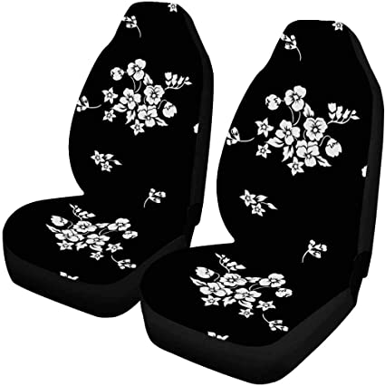 SUV INTERESTPRINT Tiny Flowers Car Seat Cover Front Seats Only Full Set of 2 Bucket Seat Protector Car Seat Cushions for Car Truck or Van
