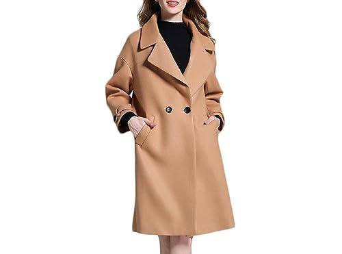 Otoño Invierno Sección Larga De Lana Abrigo Mangas Largas Engrosamiento XL Abrigo Cardigan Abrigo