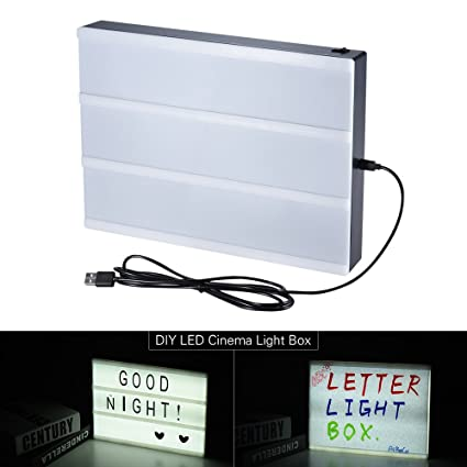 Aibecy Tamaño A4 DIY LED Cinema Light Box Tablero de ...