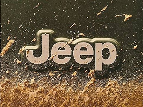 2002 JEEP FULL-LINE: GRAND CHEROKEE / WRANGLER / LIBERTY COLOR SALES BROCHURE 7/01 - USA - EXCELLENT !!