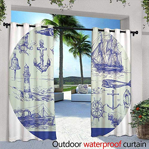 Lightly Outdoor Privacy Curtain for Pergola,Mystical Background with Candles for a Party on Halloween,W96 x L96 for Front Porch Covered Patio Gazebo Dock Beach -