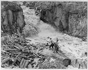 Photo: Log drivers,Swift Diamond River,New Hampshire,Logging