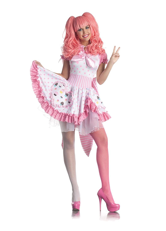 amazoncom party king sexy harajuku pink cupcake girl dress halloween costume clothing