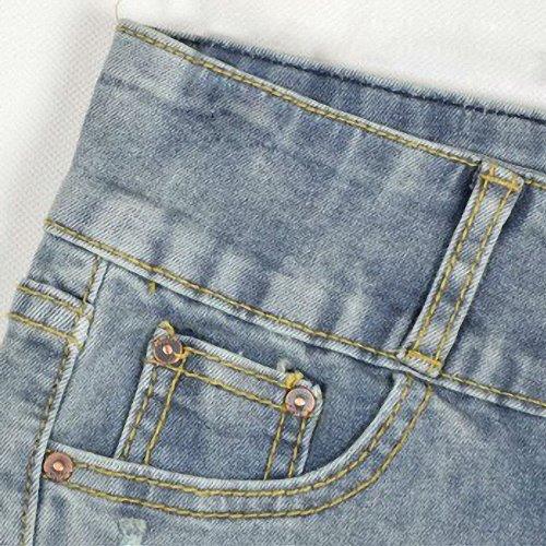 Zbrandy Women's Grey Denim Sexy Shorts