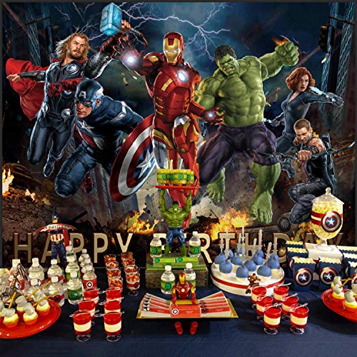 Avengers Backdrop, Superhero Theme, Birthday, for Boys, Party Supplies, Banner, Background, Photography, Decorations