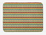 Lunarable Ethnic Bath Mat, Southwestern Pattern with Colorful Arrow Triangle Motifs Primitive Country Pattern, Plush Bathroom Decor Mat with Non Slip Backing, 29.5 W X 17.5 W Inches, Multicolor
