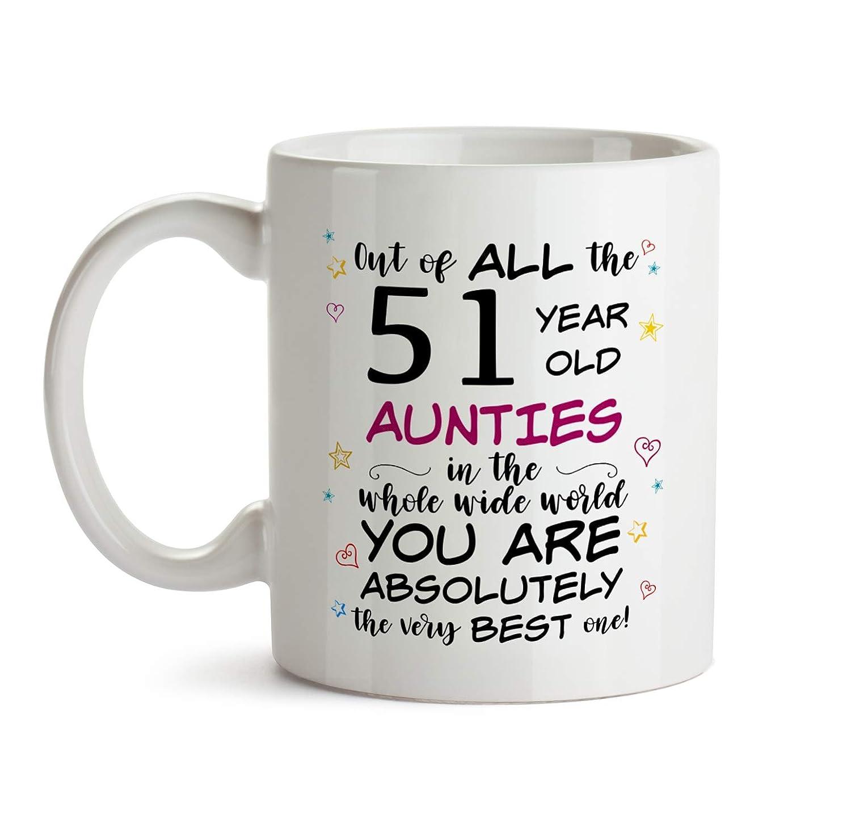 51st Auntie Birthday Gift Mug