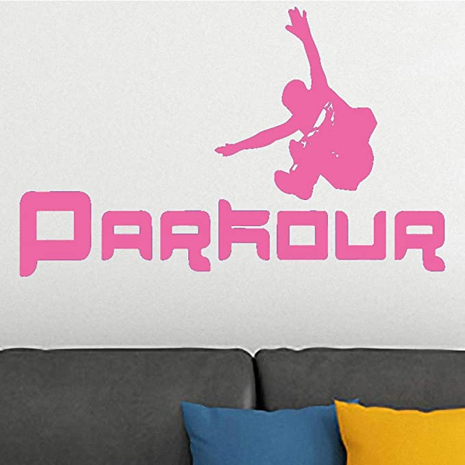 xingbuxin Parkour Runing Silhouette Fashion Wall Sticker ...