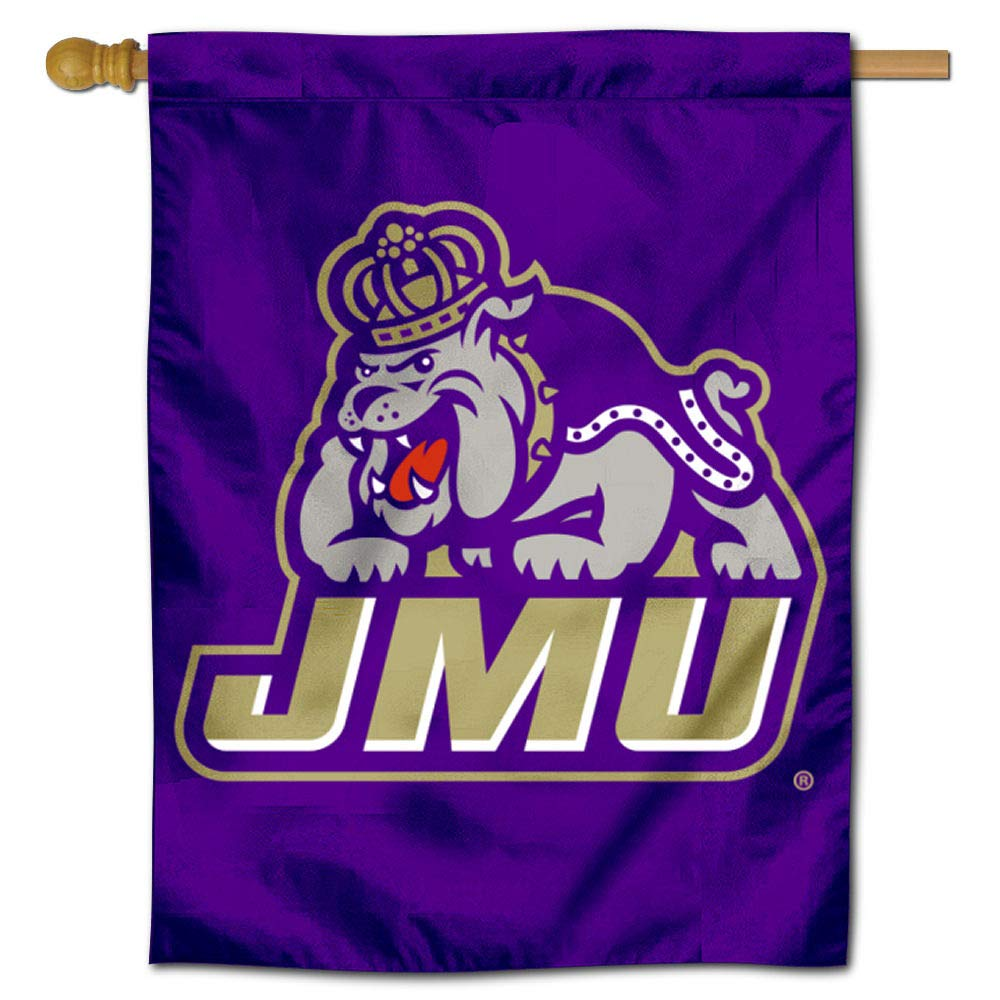 College Flags and Banners Co. James Madison Dukes 両面ハウスフラッグ