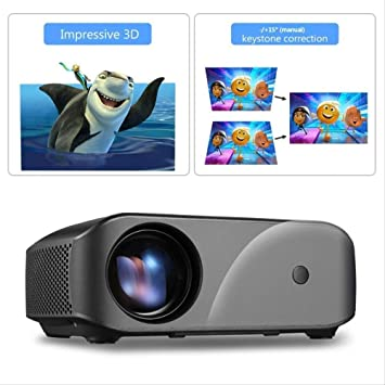 QNJM Proyector LCD Proyector Portátil De Resolución HD 1080P ...