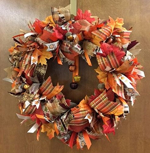 fall burlap wreath door decoration with sparkle super cute whimsical thanksgiving decorations