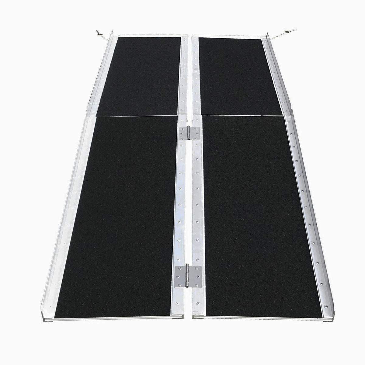 Clevr 6' (72'' X 31'') Non-Skid Aluminum Wheelchair Loading Traction Ramp, Lightweight Folding Portable, Single Fold Wheelchair Scooter Ramp, Extra Wide 31'', Holds up to 600 lbs by Clevr (Image #6)