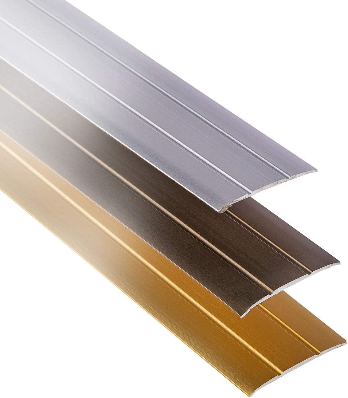Vinyl Breite 37 mm Boden-Schiene Alu Teppich UVM Gedotec /Übergangsprofil selbstklebend /Übergangs-Schiene Laminat 1 St/ück Aluminium Bronze eloxiert   Boden-Profil flach L/änge 100 cm