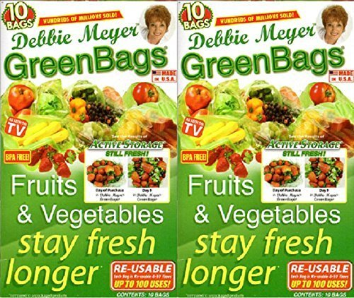 Debbie Meyer Greenbags-20 (M/L) (2-10 Bag Sets) (M/L) by Debbie Meyer