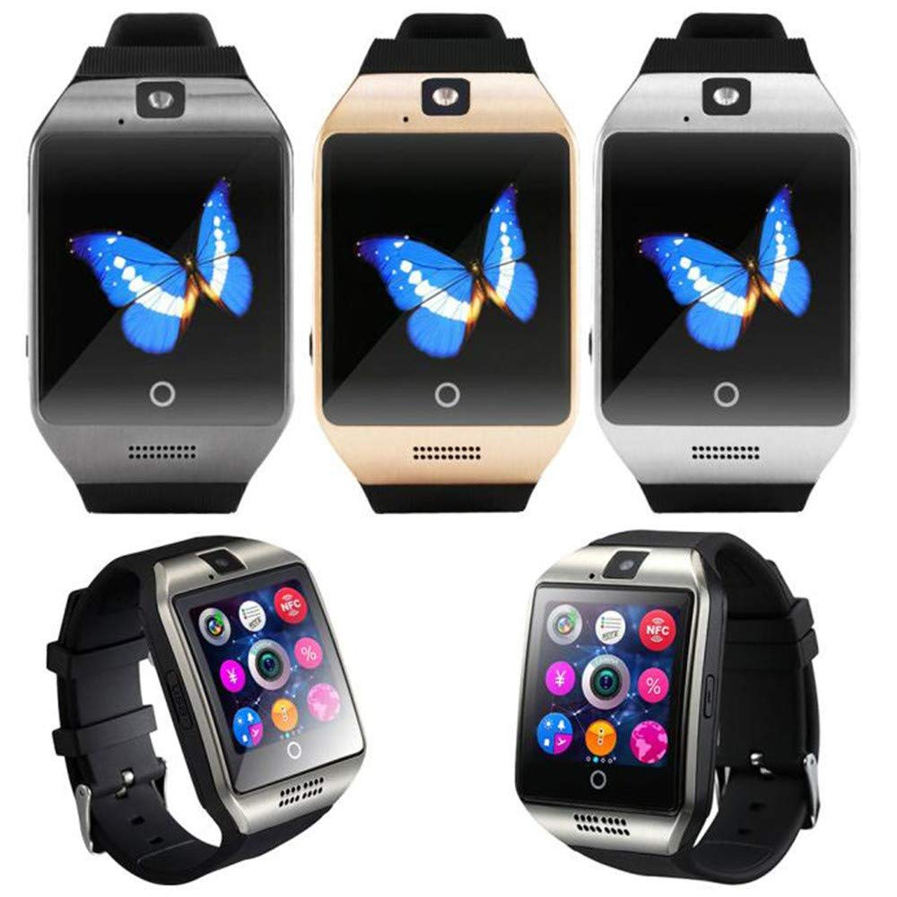 Smart Watch with Camera, NDGA 2019 Q18 Blue-Tooth Smart Watch GSM TF Card Phone Wrist Watch for Android