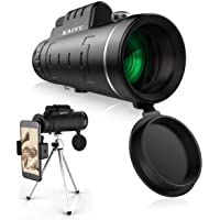 Monocular Telescope, 40X60 High Power HD Monocular with Smartphone Holder & Tripod - [Upgrade] Waterproof Monocular with Durable and Clear FMC BAK4 Prism Dual Focus for Bird Watching, Camping, Hiking