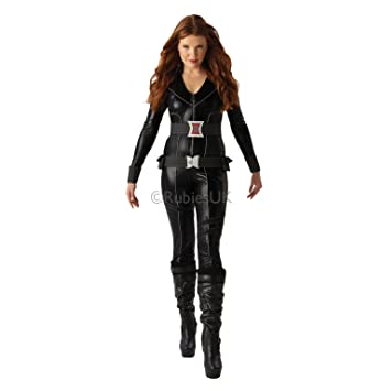Rubiess Disfraz Oficial de Marvel, Viuda Negra, para Adultos Oficial, Talla Mediana, Color Negro
