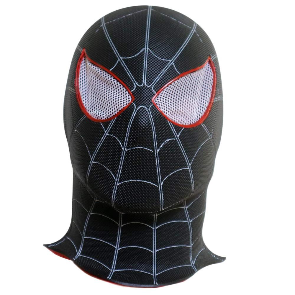 schwarz OneGröße QQWE Schwarz Spiderman Maske Helm Marvel Hero Cosplay Maske Film Helm Maske Halloween Thema Party Rolle Spielen Requisiten PVC Maske,schwarz-OneGröße