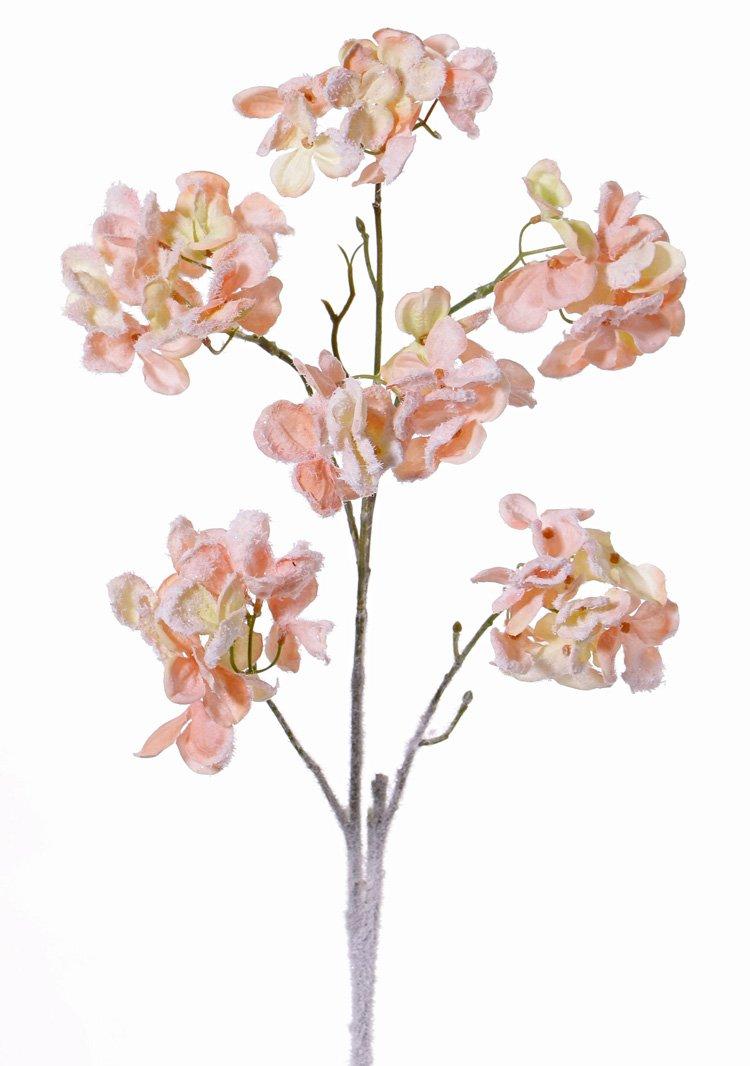 Blütenzweig artplants Künstlicher Hartriegel Zweig ANINA rot 55cm