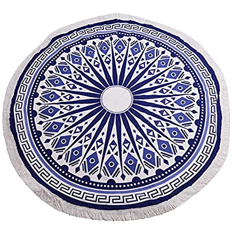 Luxury Round Beach Towels Bohemian Circle Serviette De Plage Toalla Playa Swimming Bath Super-absorbent