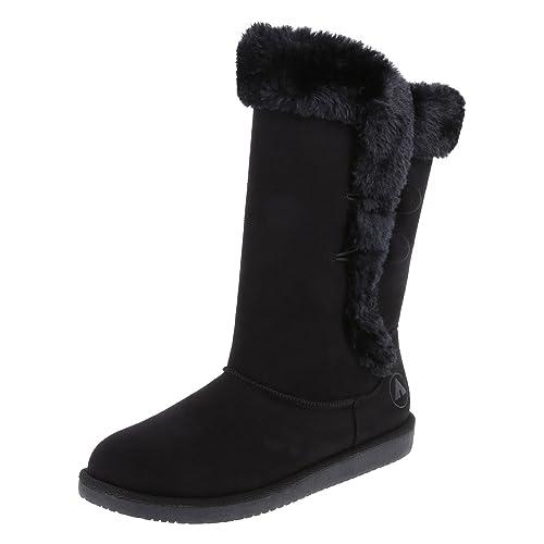 Airwalk Women s Black Suede Women s Meila Cozy Boot 10 Regular ... 2446a388e8