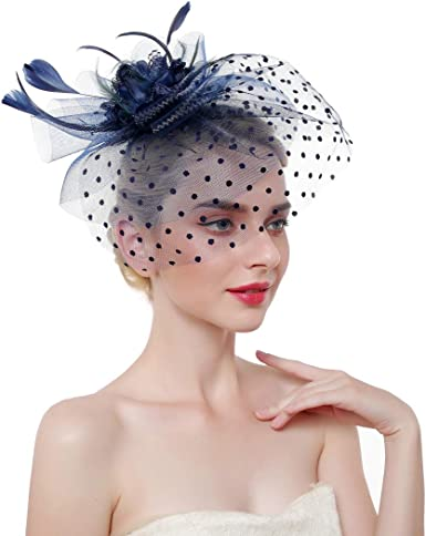 FORBUSITE Fascinators Hat for Women Church Tea Party Headband Kentucky Derby Wedding Cocktail Hat