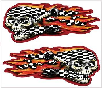FLAMES Roller Skating Vinyl Decal Sticker A