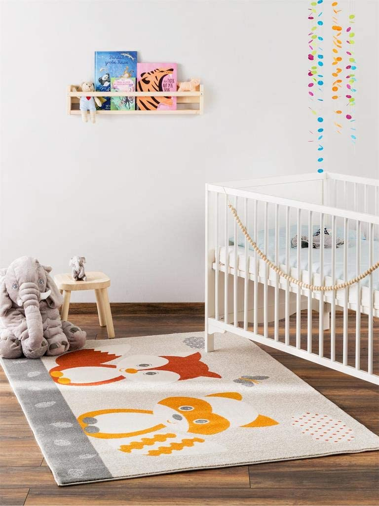 und Kinderzimmer Benuta 4053894681035 Kinderteppich Best Friends Blau 80x150 cm Teppich f/ür Spiel