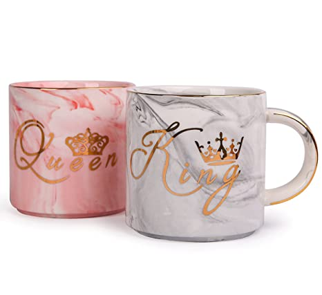 Amazon Luspan King And Queen Couples Coffee Mugs Unique