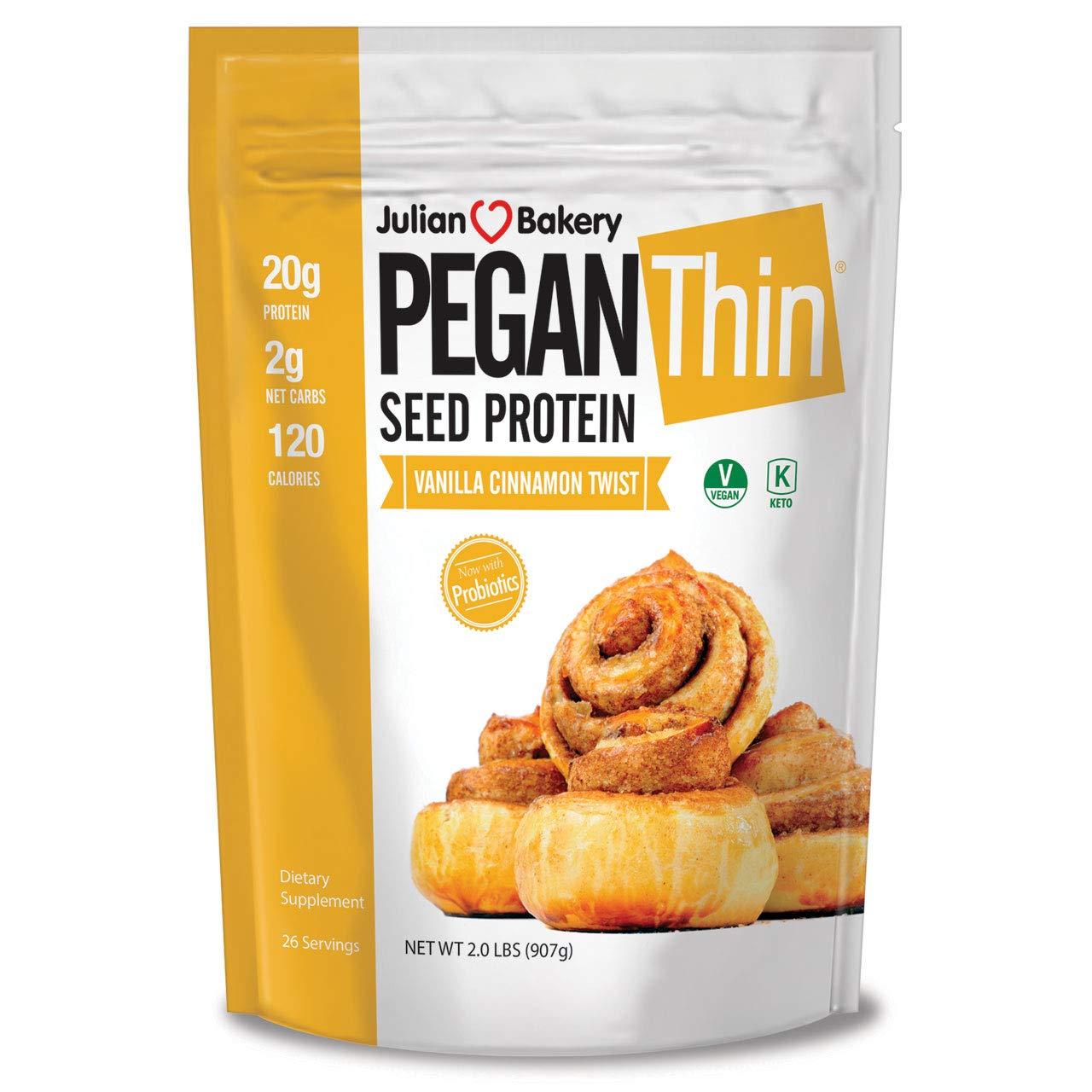 Pegan® Protein Powder (Vanilla Cinn Twist) 2lbs (20g Organic Pumpkin Seed Protein) (Vegan/Paleo/Keto)