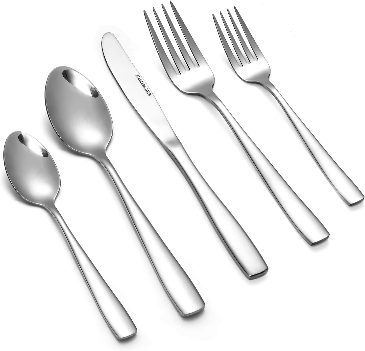 Eslite Stainless Steel Flatware Sets,40-piece,Service for 8