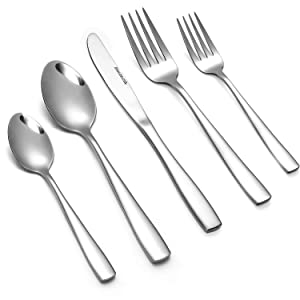 Eslite 60-Piece Stainless Steel Flatware Sets, Service for 12