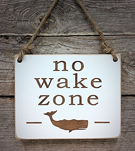 No Wake Zone - Small Hanging Sign - Nursery Decor - Baby Sleeping Sign - Baby Shower