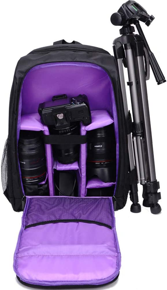 Large Capacity Shockproof Wear-Resistant Waterproof Anti-Theft Professional SLR Camera Shoulder Camera Bag LILINSS Digital Camera Backpack