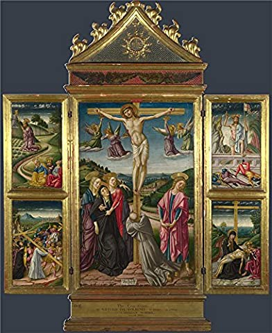 Oil Painting 'Niccolo Di Liberatore Christ On The Cross And Other Scenes ' Printing On High Quality Polyster Canvas , 30 X 37 Inch / 76 X 93 Cm ,the Best Bedroom Artwork And Home Gallery Art And Gifts Is This High Resolution Art Decorative Prints On - Fixed Yoke Kit