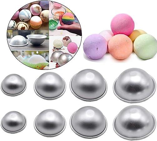 Seifenform Bath Bomb Molds,Wady Metall-Formen f/ür Badekugeln zum Selbermachen DIY Bad Bombe Form mit 3 Gr/ö/ßen 3 Sets 6 St/ücke