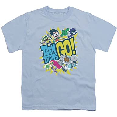 8bec88452 Teen Titans Go! Animated DC TV Series Cast and Logo Big Boys Youth T ...