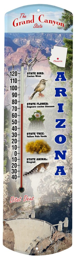 Heritage America by MORCO 375AZ Arizona Outdoor or Indoor Thermometer, 20-Inch