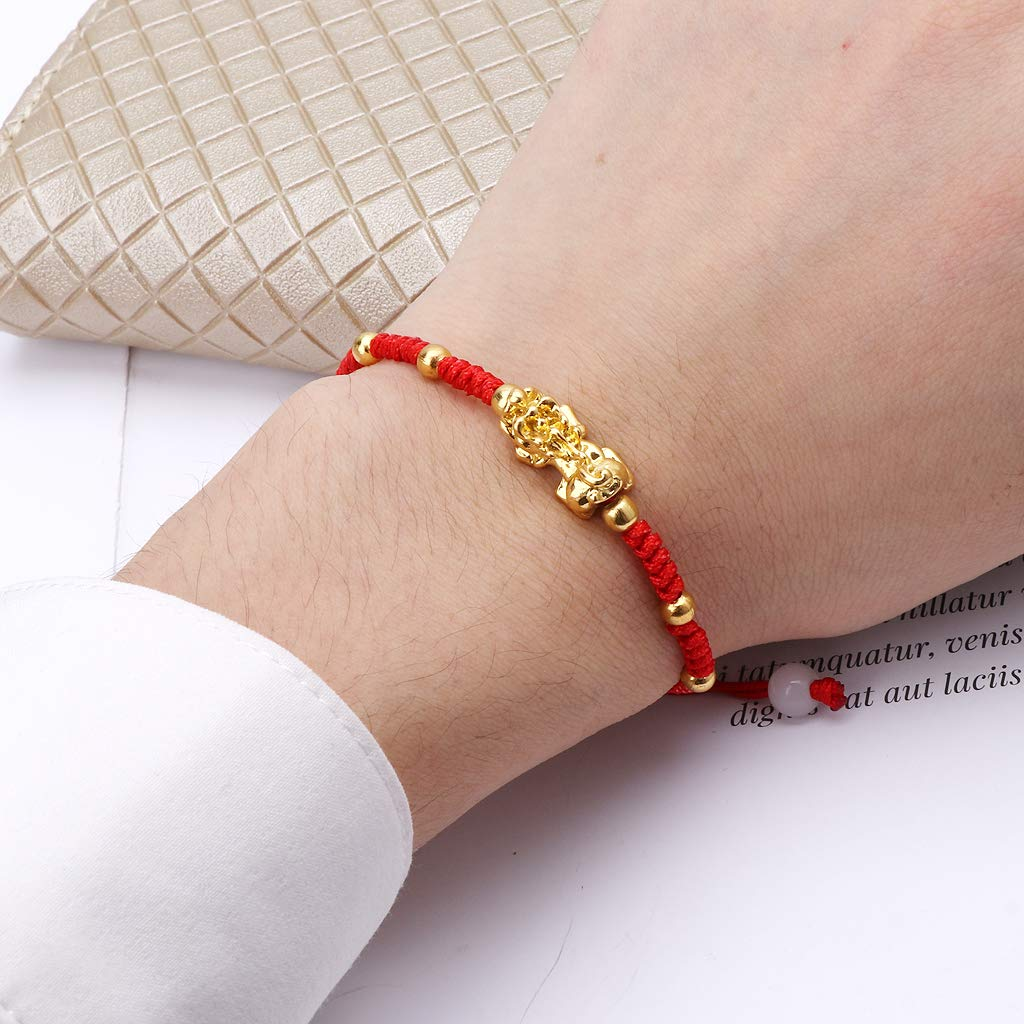 puhoon Chinese Feng Shui Bracelet, Pi Xiu Kabbalah, Red String Lucky Protection (C) by puhoon (Image #6)