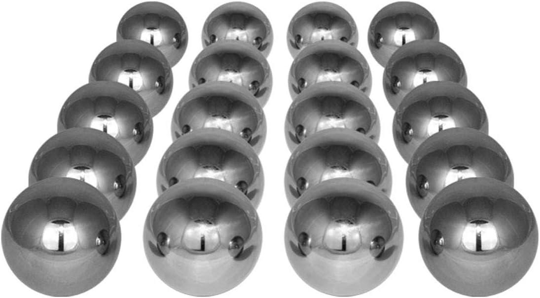 Ware! Edelstahlkugeln 30 Stück je 6,5 cm Durchmesser B